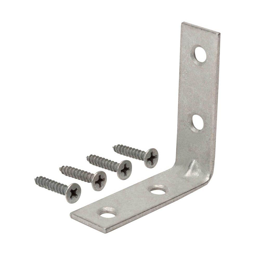 1-1/2 in. Galvanized Corner Brace (4-Pack)