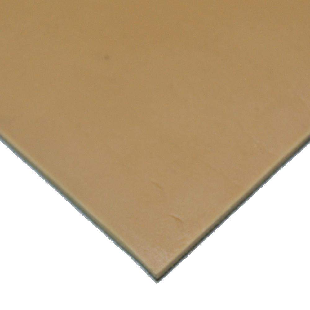Pure Gum Rubber 3/16 in. x 36 in. x 12 in. Tan Commerical Grade 40A Rubber Sheet