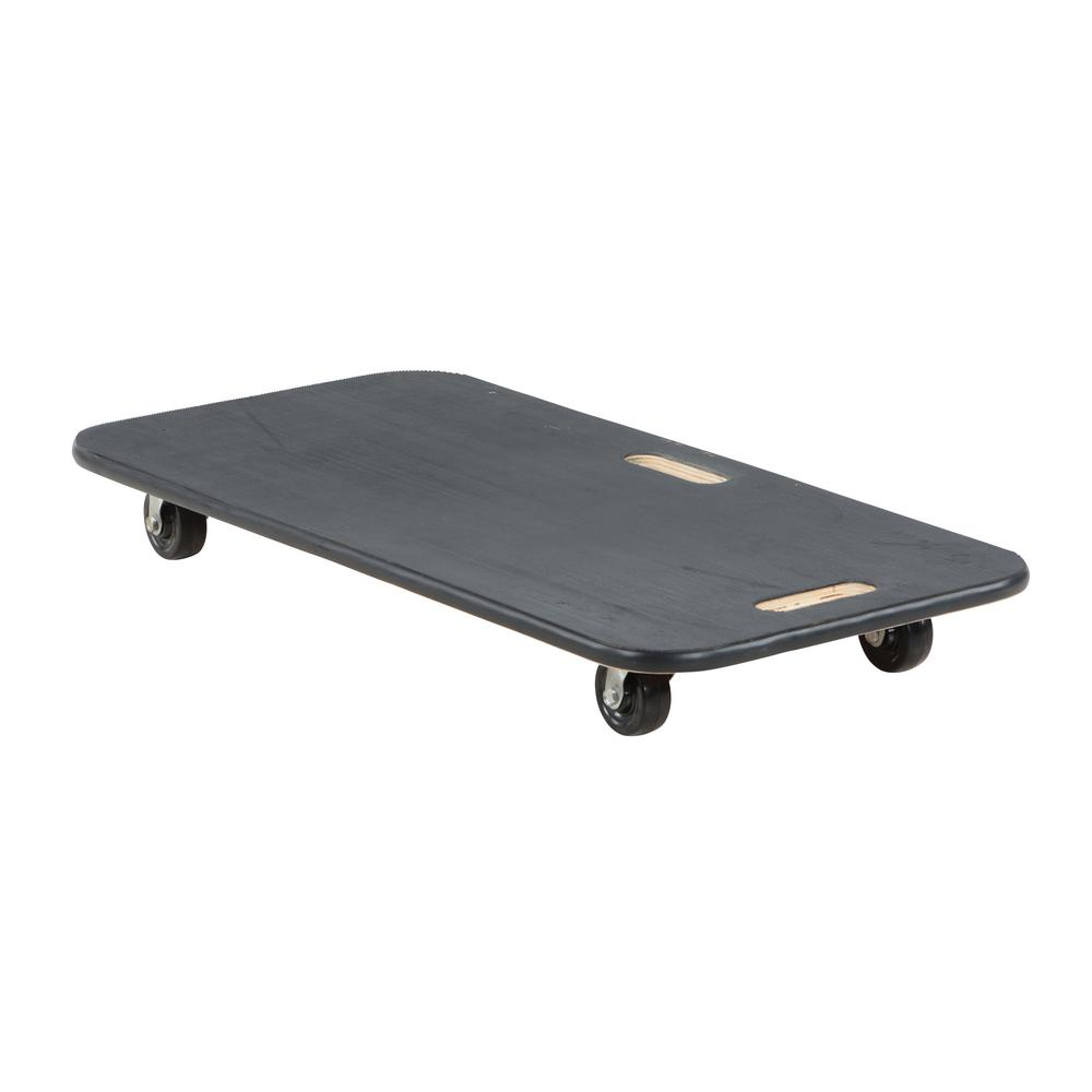 18 in. x 36 in. Fiber Wood Dolly with Rubber Caster