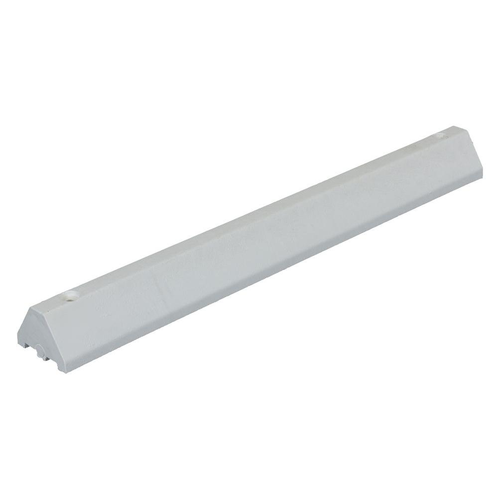 Recycled 48 in. White Plastic Car Stop