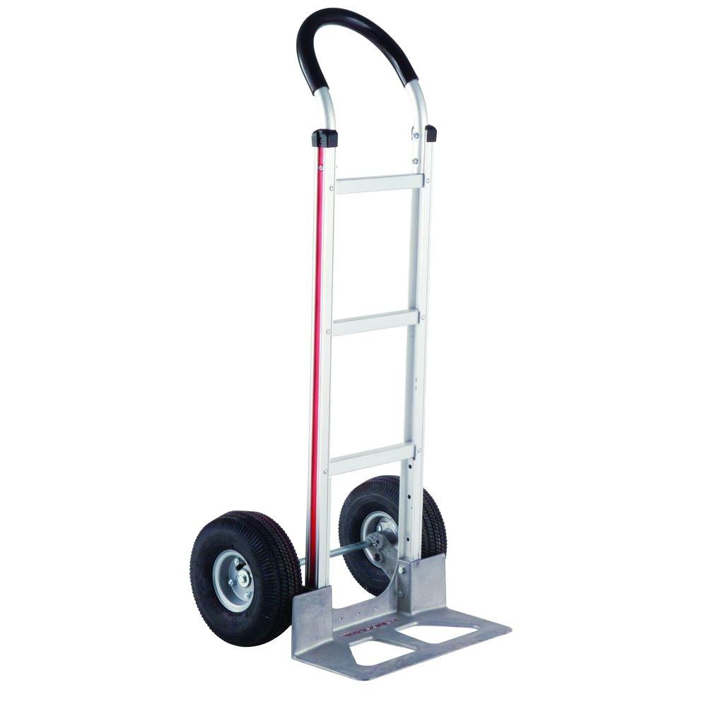 500 lb. Capacity Aluminum Modular Hand Truck with Horizontal Loop Handle with Vinyl Sleeve and Pneumatic Wheels