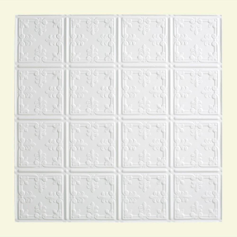 Traditional 10 - 2 ft. x 2 ft. Lay-in Ceiling Tile in Matte White