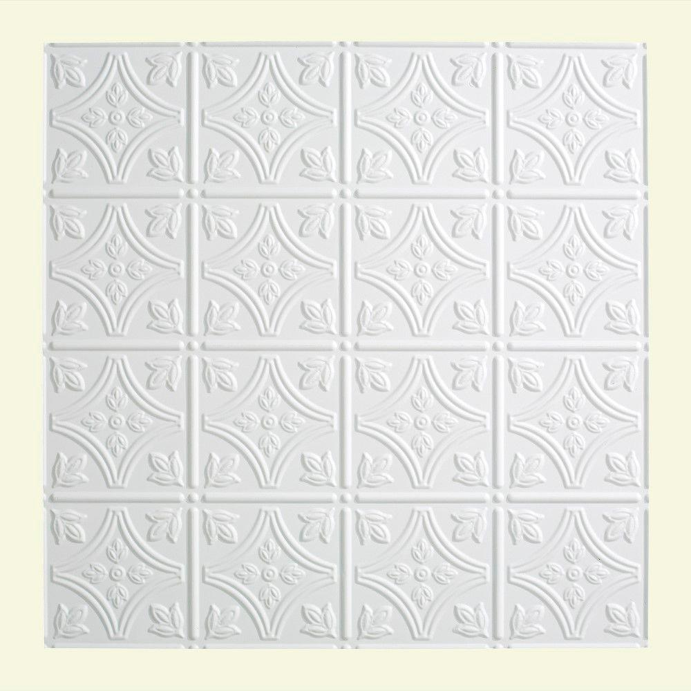 Traditional 1 - 2 ft. x 2 ft. Lay-in Ceiling Tile in Matte White