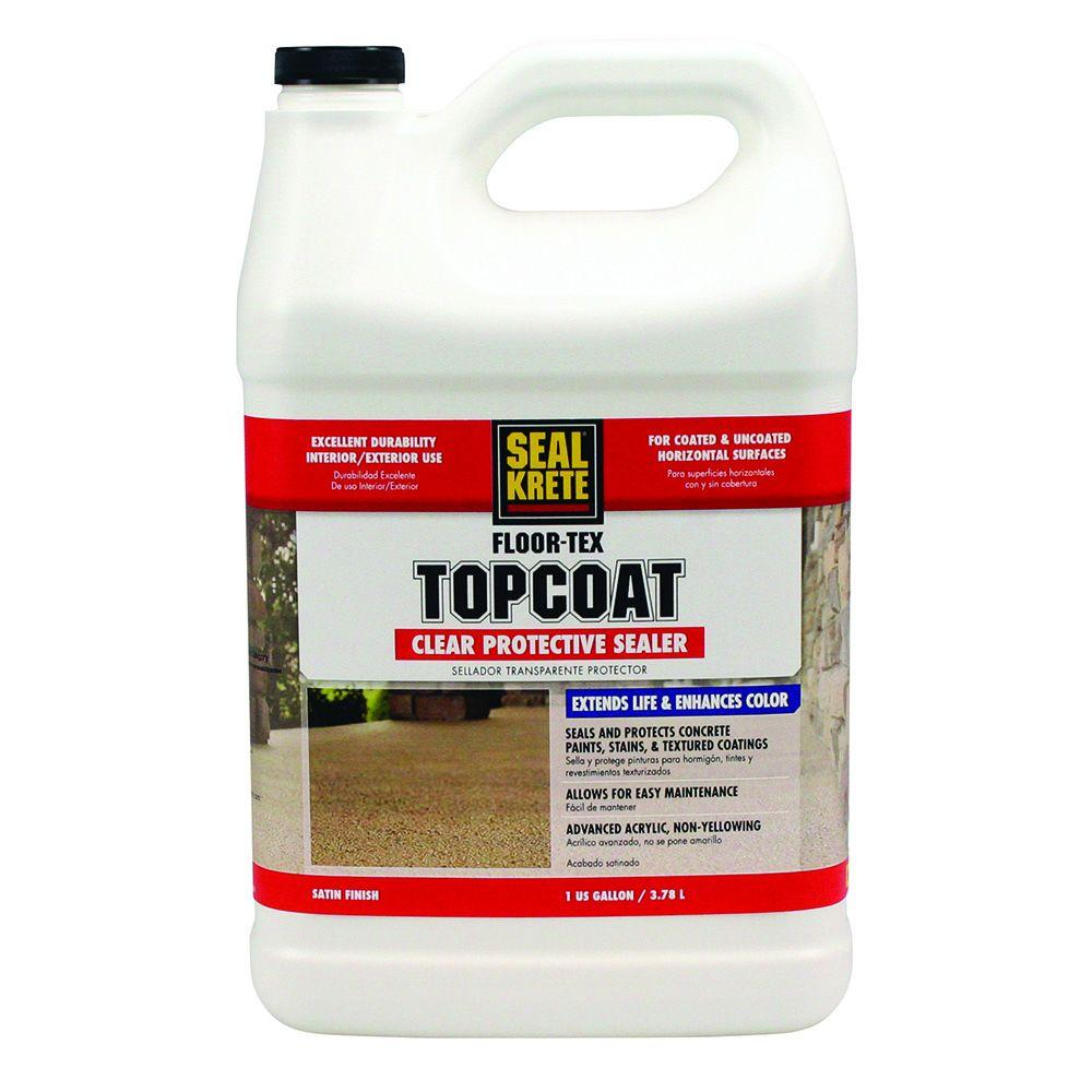 Floor-Tex 1 -gal. Clear Satin Interior and Exterior Top Coat Water Resistant Sealer