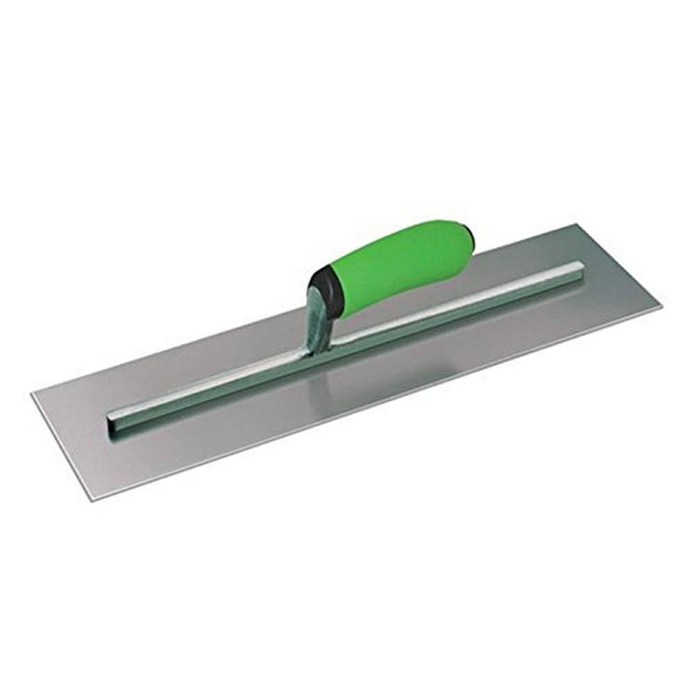 14 in. x 4 in. Concrete Finishing Trowel - Soft Grip Handle