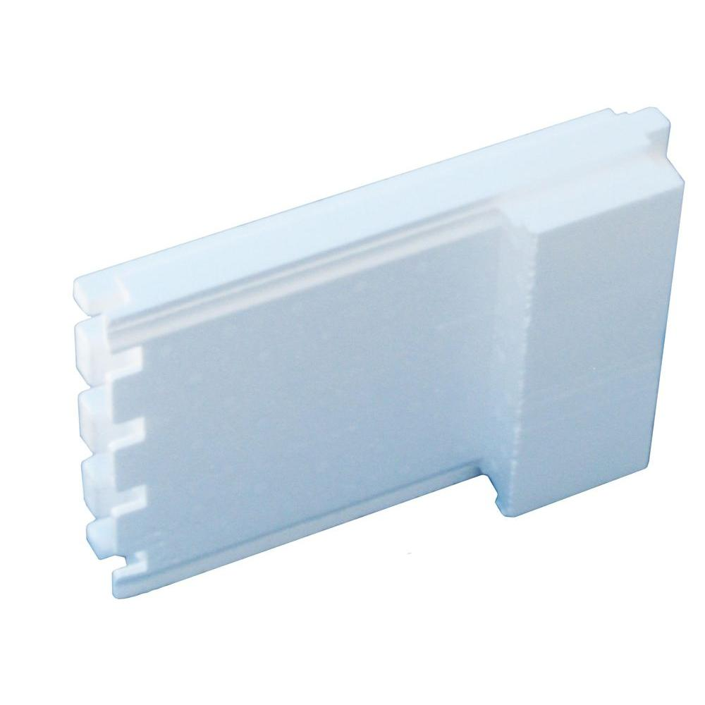 6 in. ICF End Pieces 6 lbs. 14.5 in. W x 2.25 ft. L Insulated Concrete Form for ICFs (Box of 30)